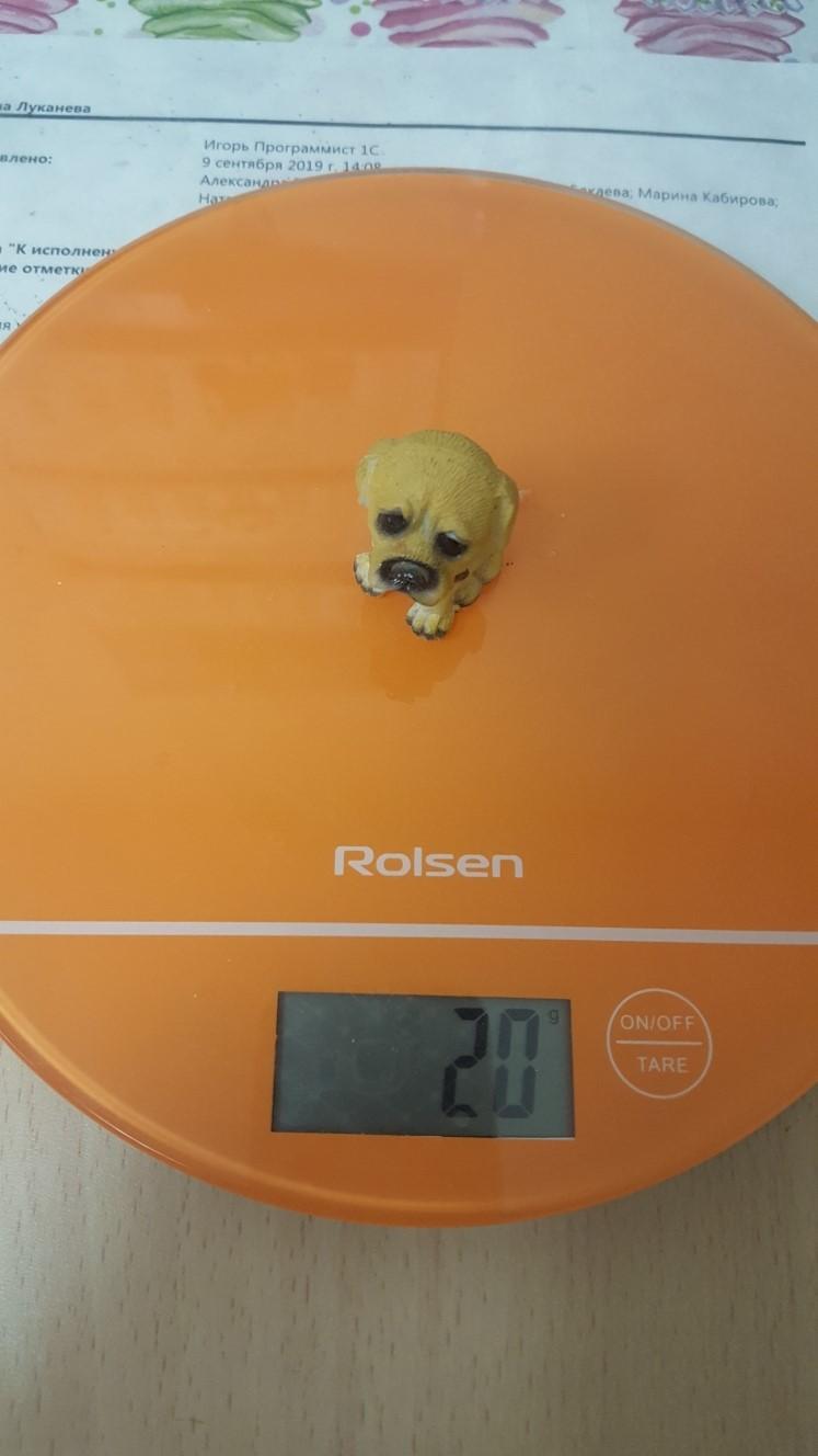 вес статуэтки собаки