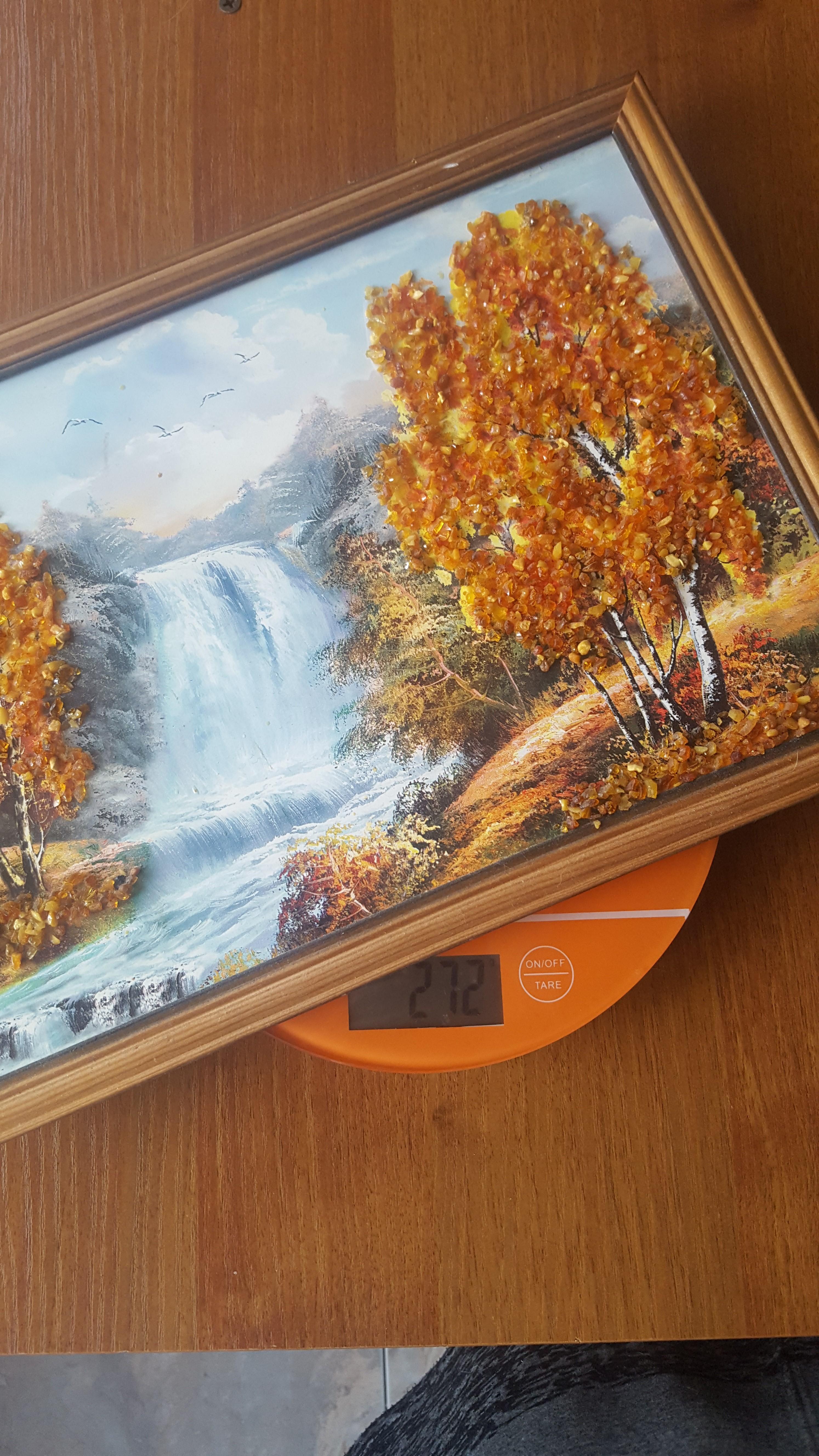 вес картины из янтаря