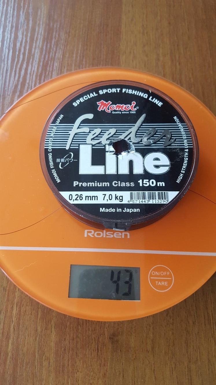вес лески для удочки