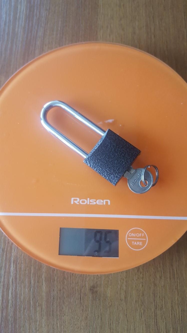 вес маленького навесного замка