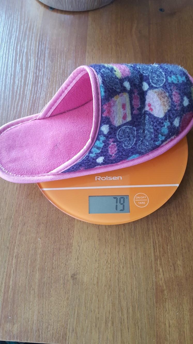 вес домашнего тапка