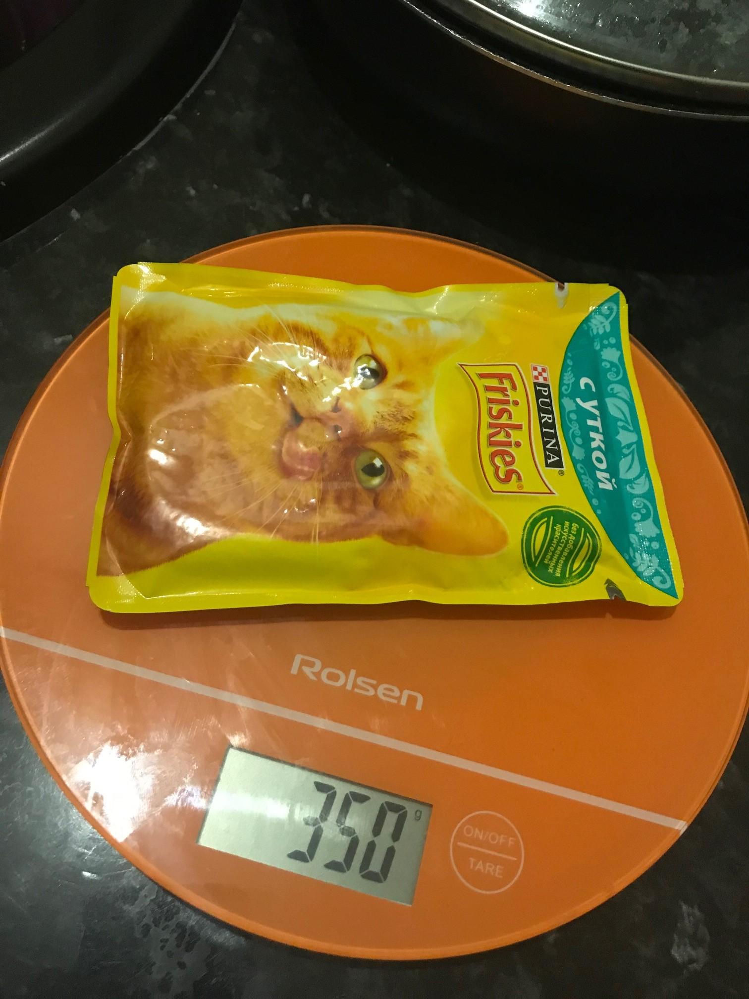 вес пакетика влажного кошачьего корма