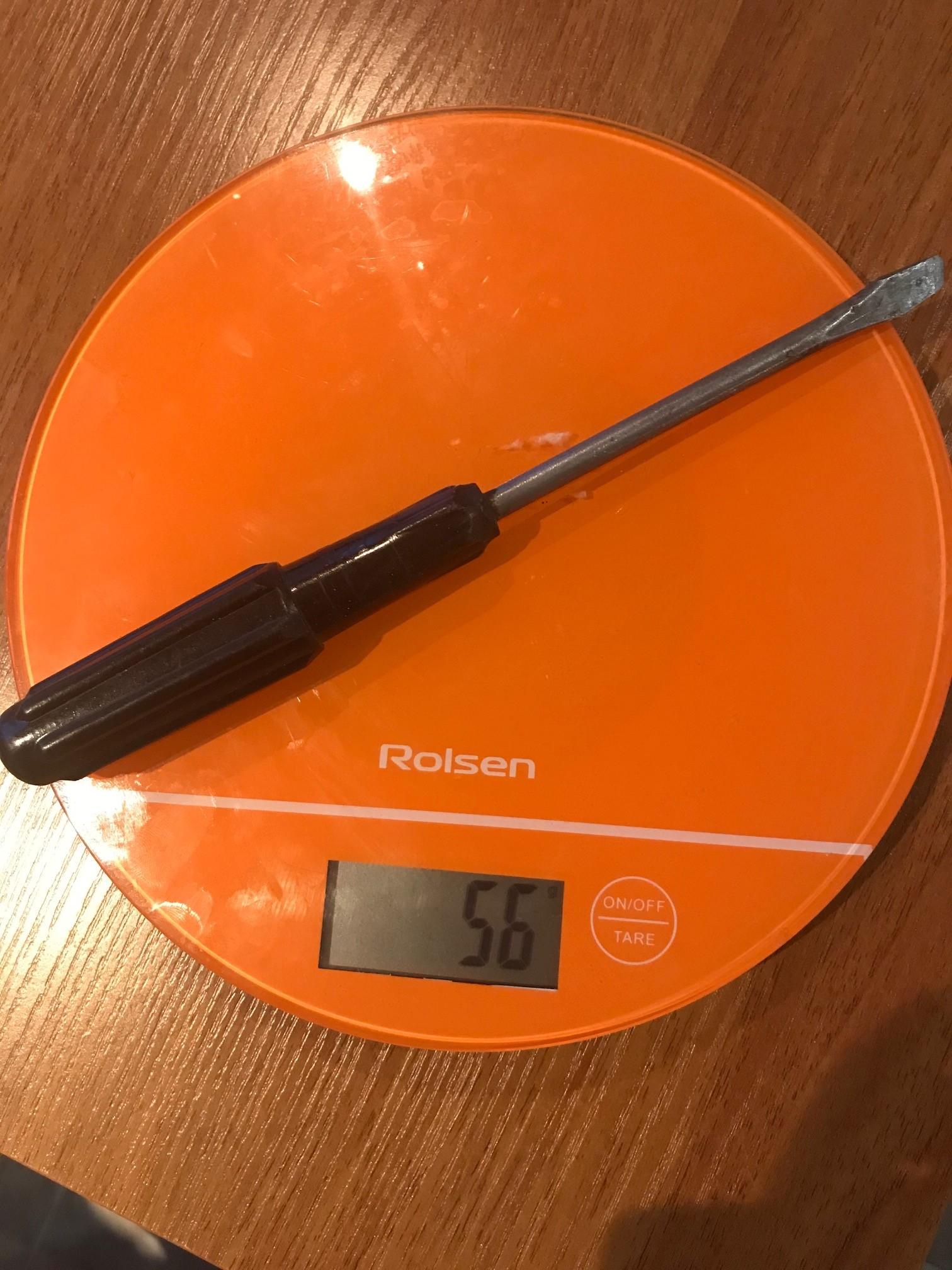 вес отвертки - минус