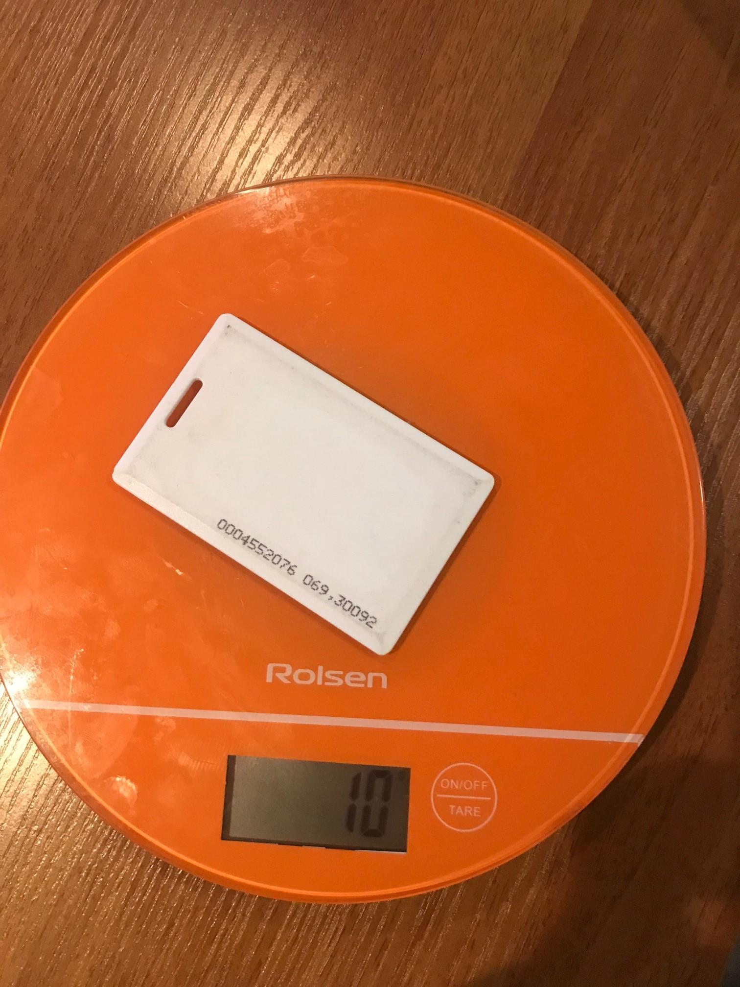 вес пластиковой карты-пропуск
