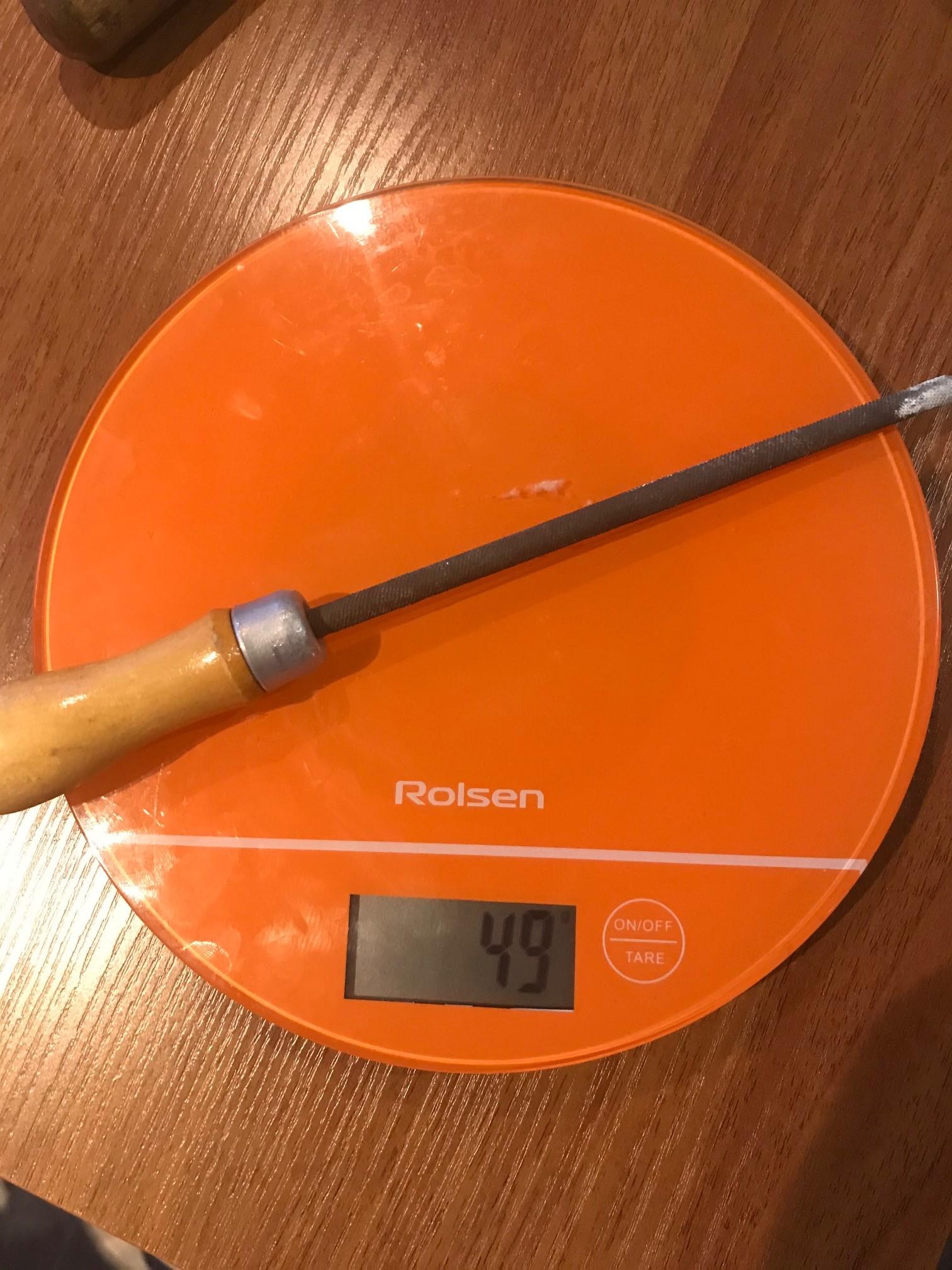 вес напильника круглого