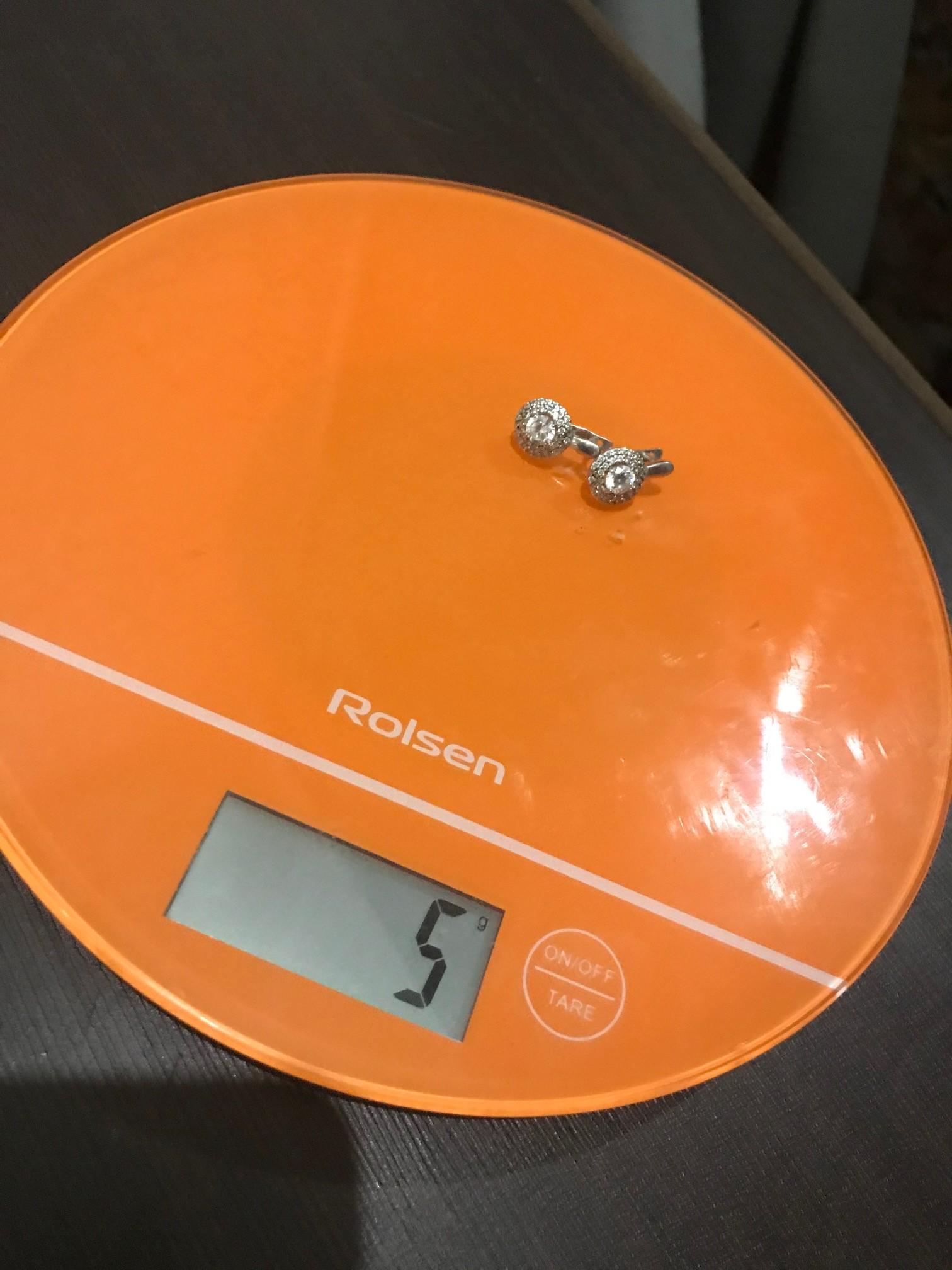 вес серебряных серег