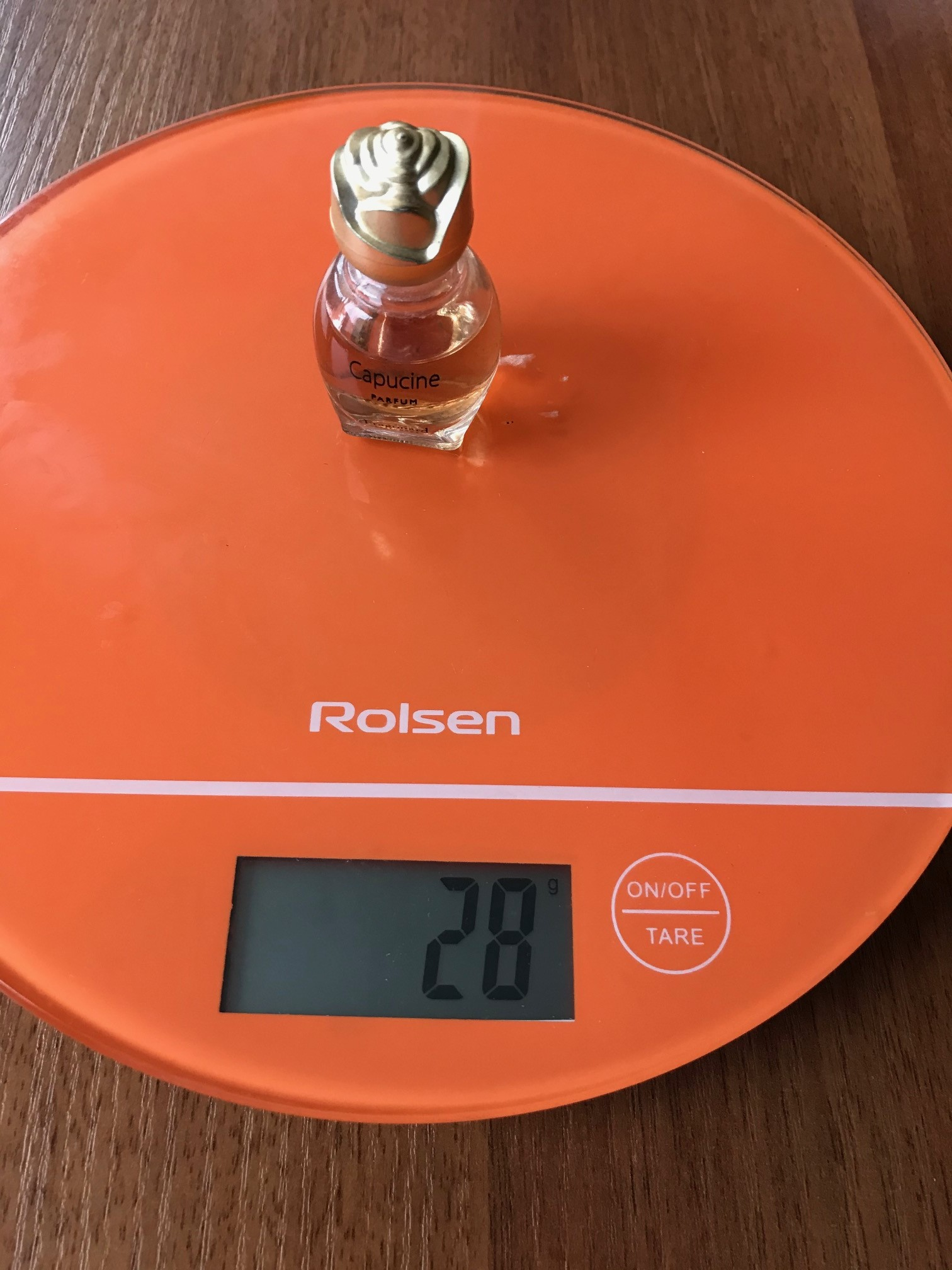 вес духов 15 мл