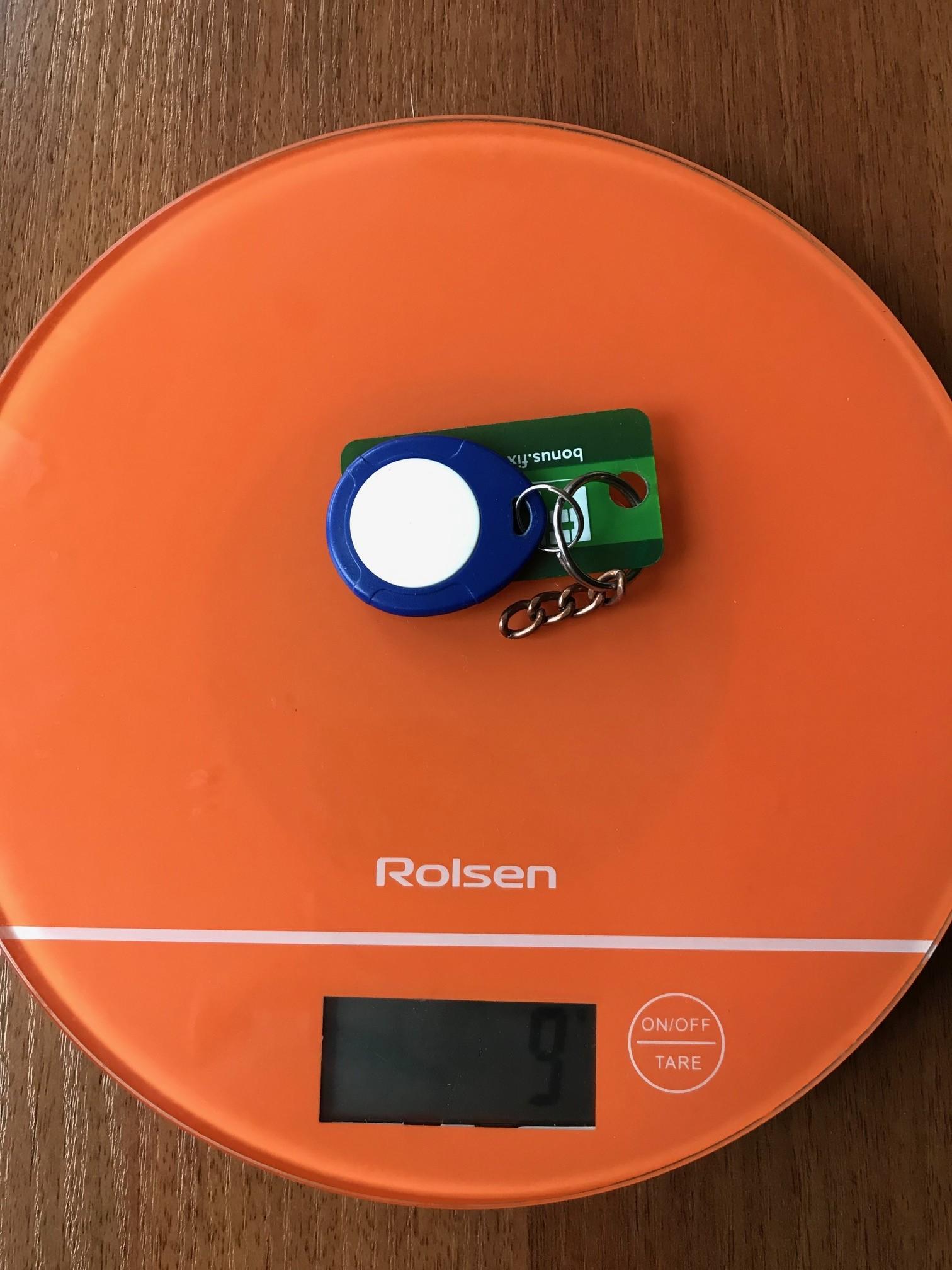 вес ключа-таблетки от домофона