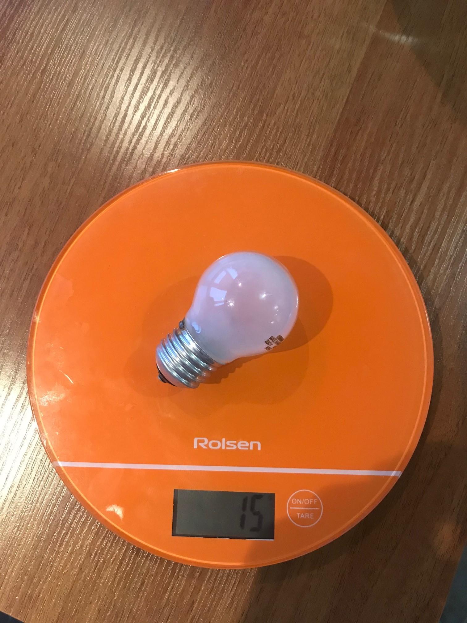 вес лампочки маленькой