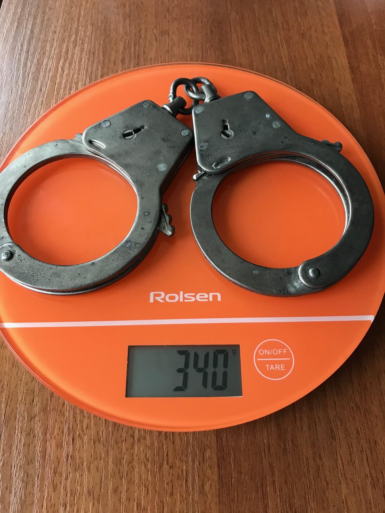 вес наручников полицейских