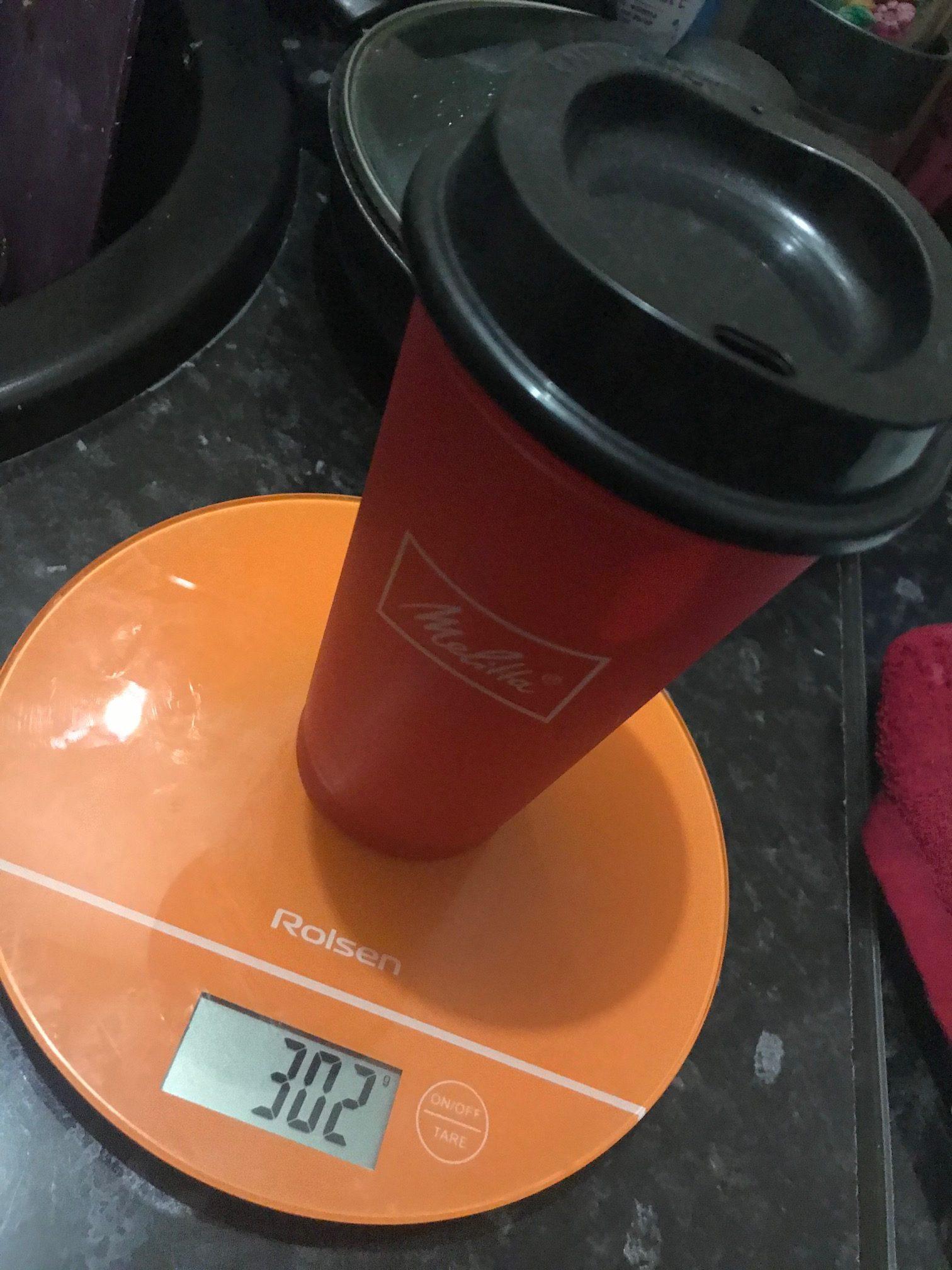 вес стакана для кофе из пластика