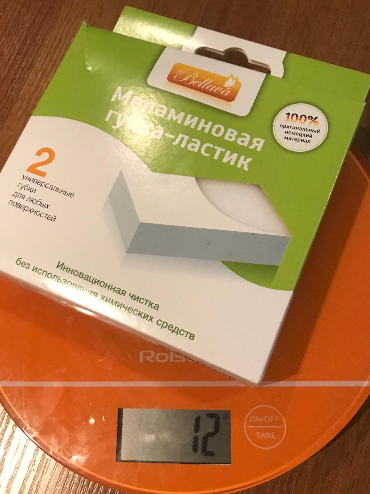 вес меламиновой губки