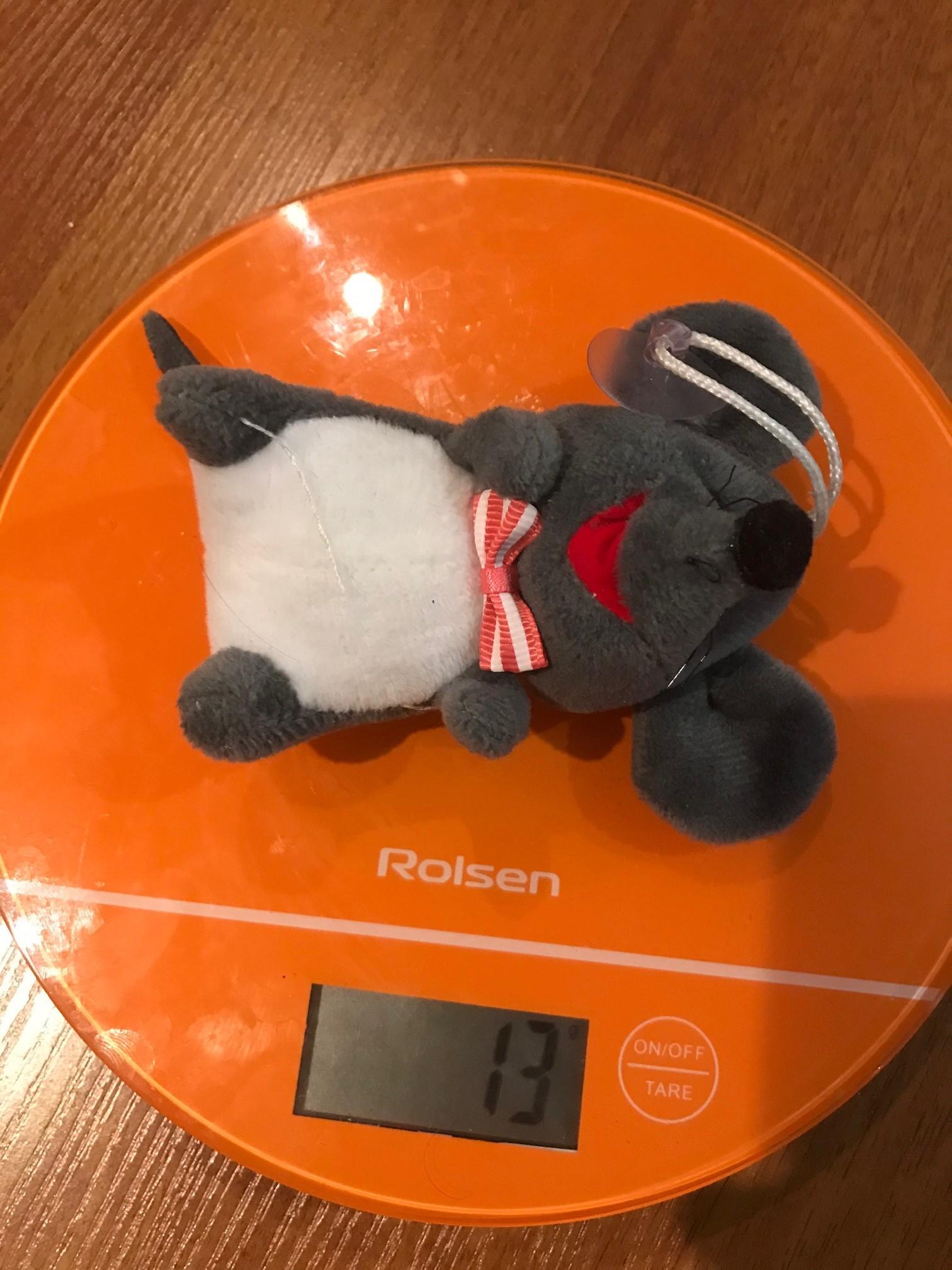 вес мышки мягкой игрушки