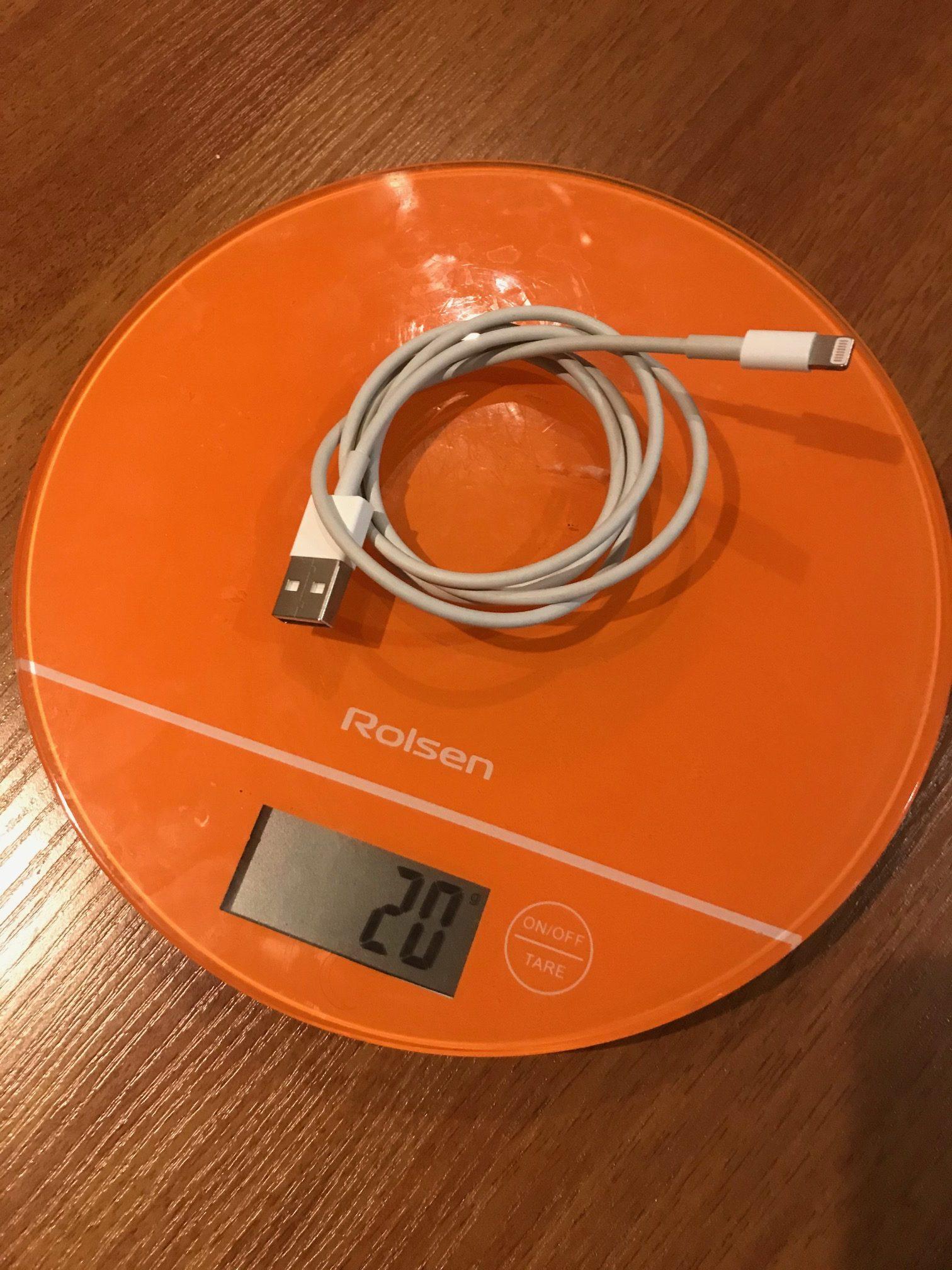 вес кабеля usb iphone