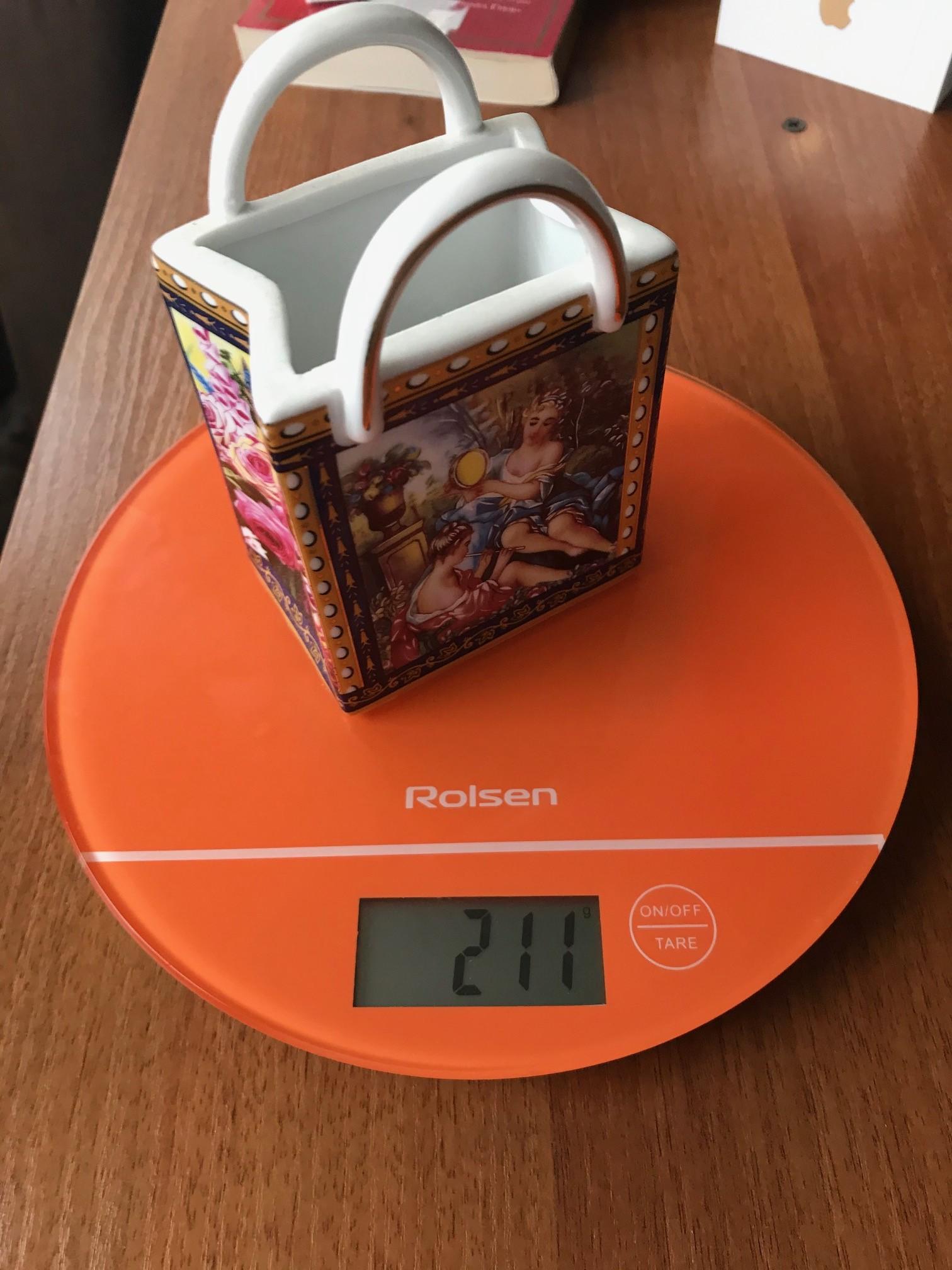 вес керамической салфетницы