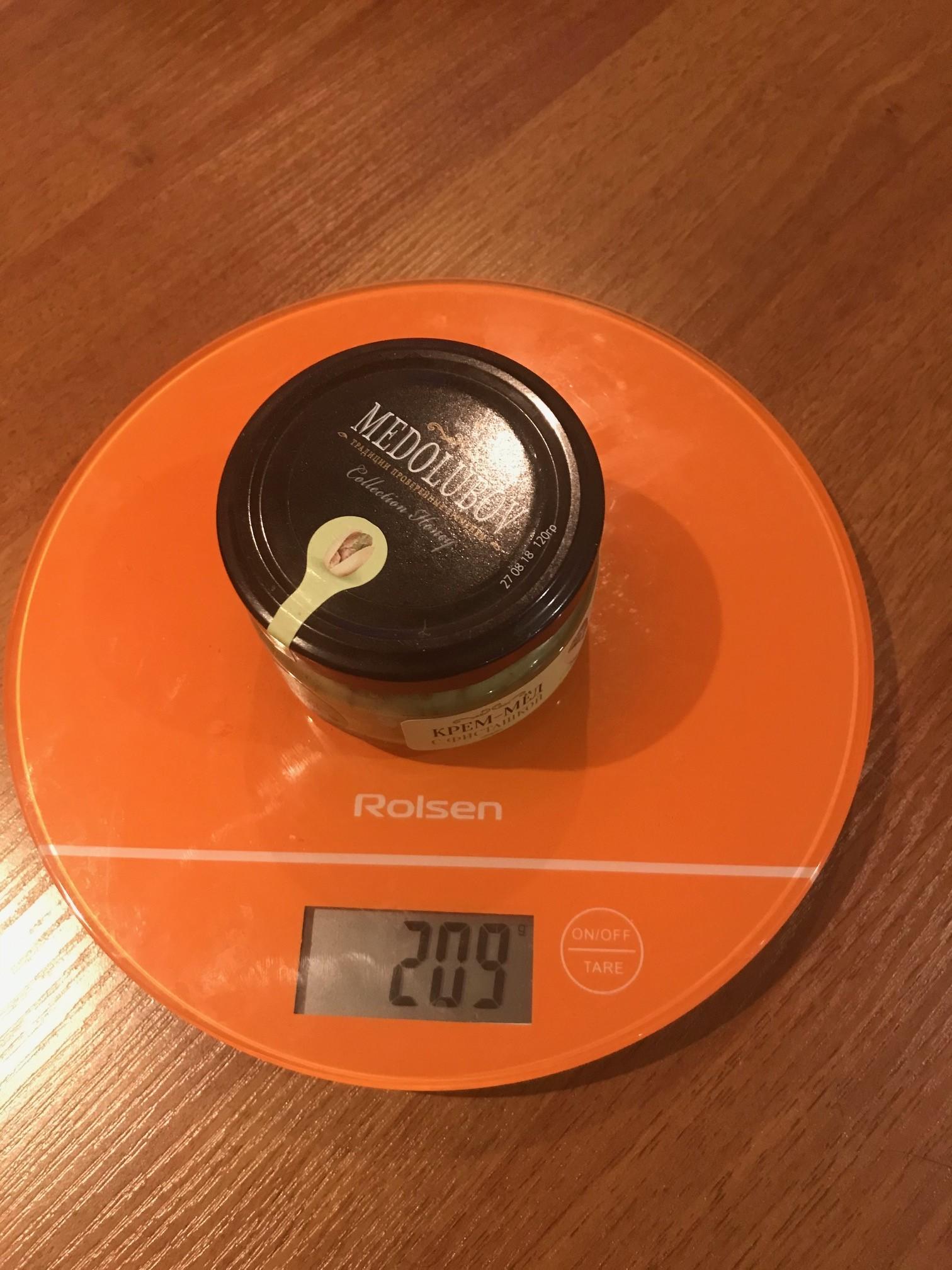 вес крем-меда