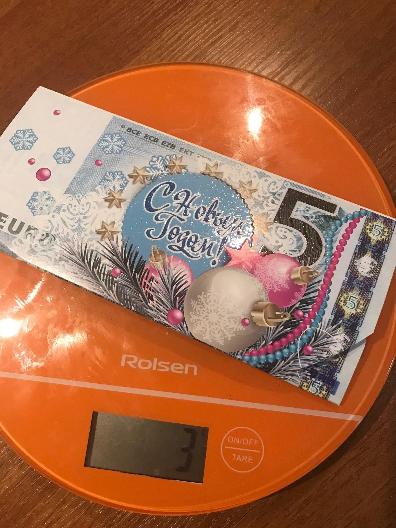 вес открытки для денег