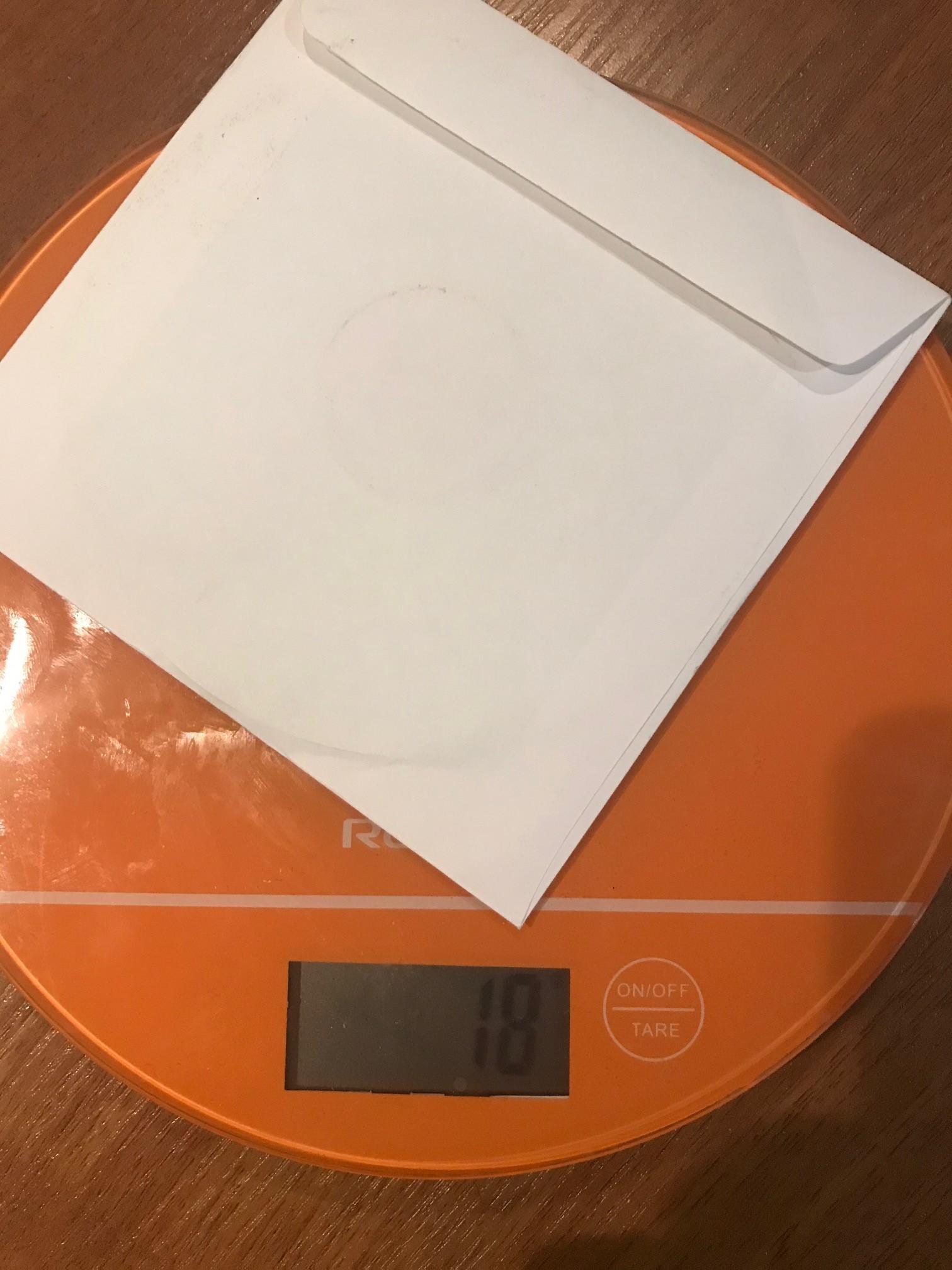 вес диска в конверте