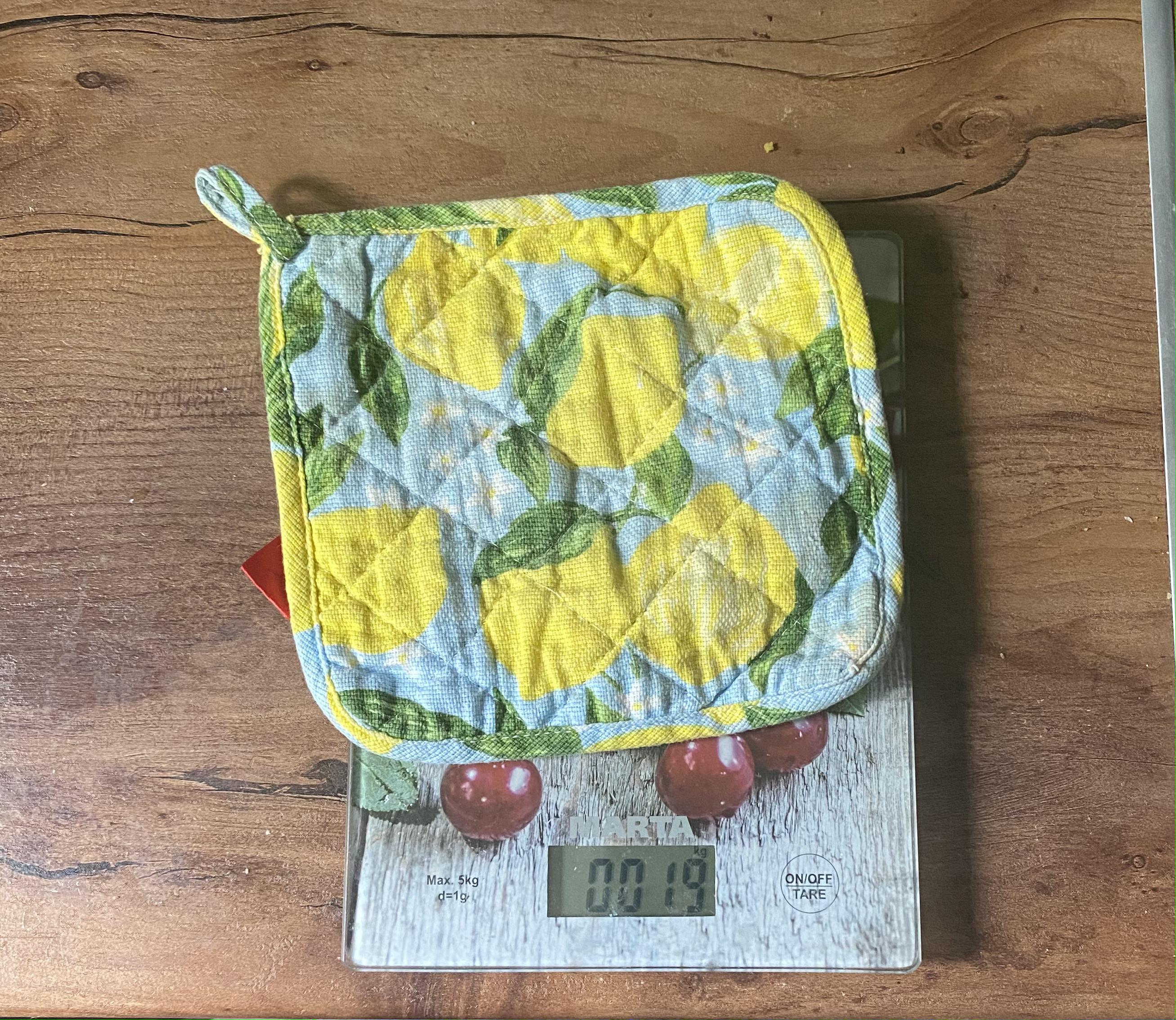 вес прихватки для горячего