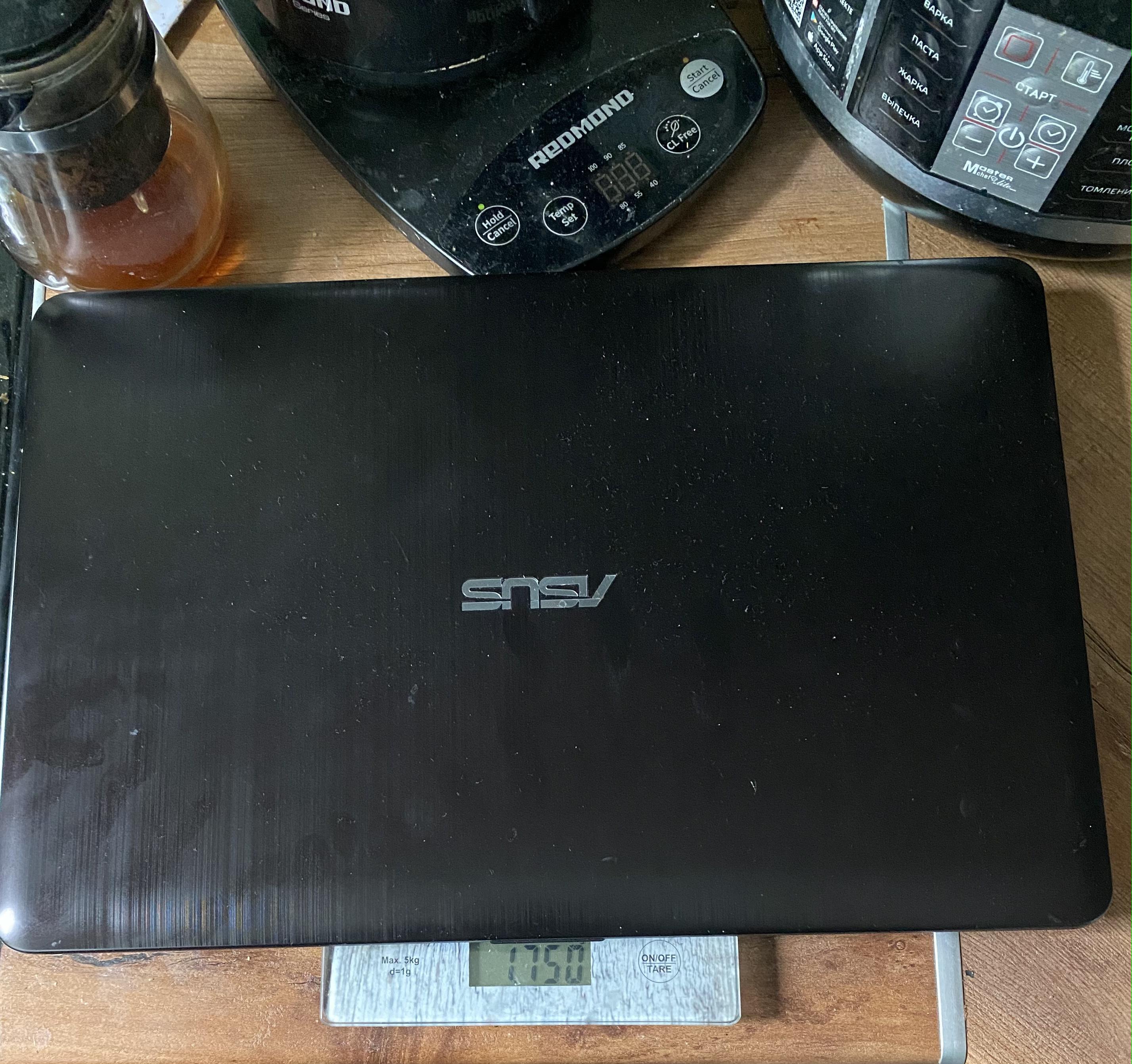 вес ноутбука Asus