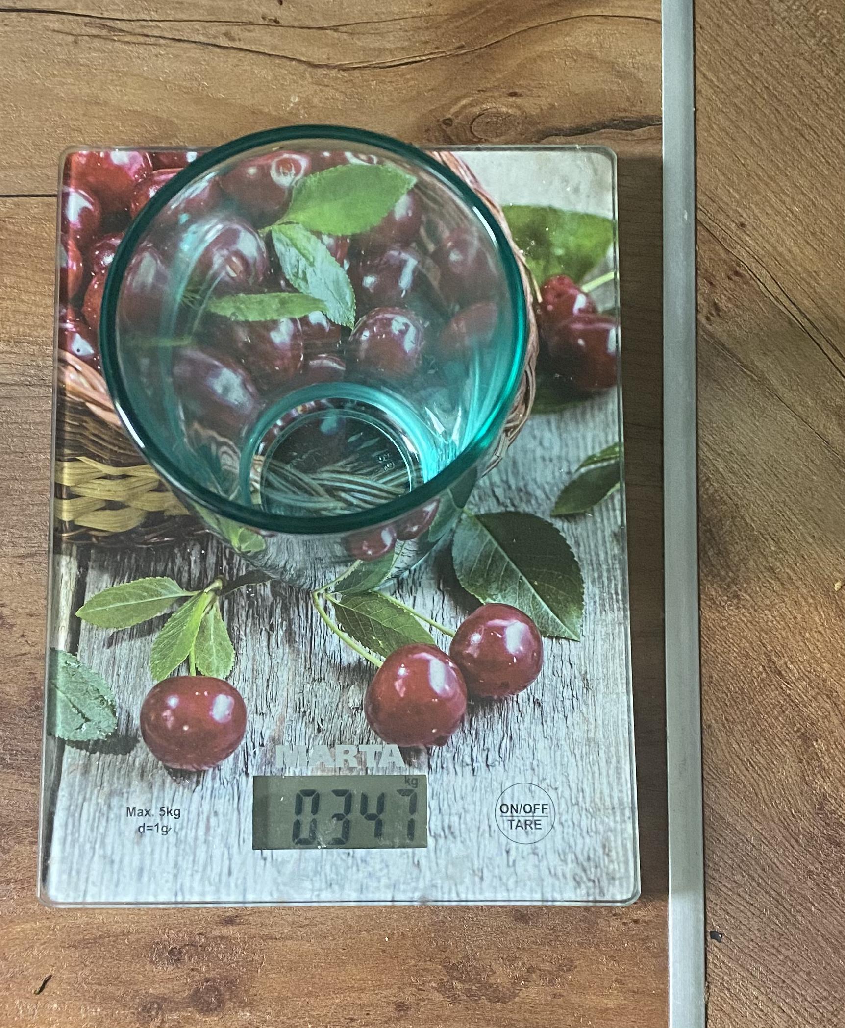 вес фирменного стеклянного стакана из Макдональдса