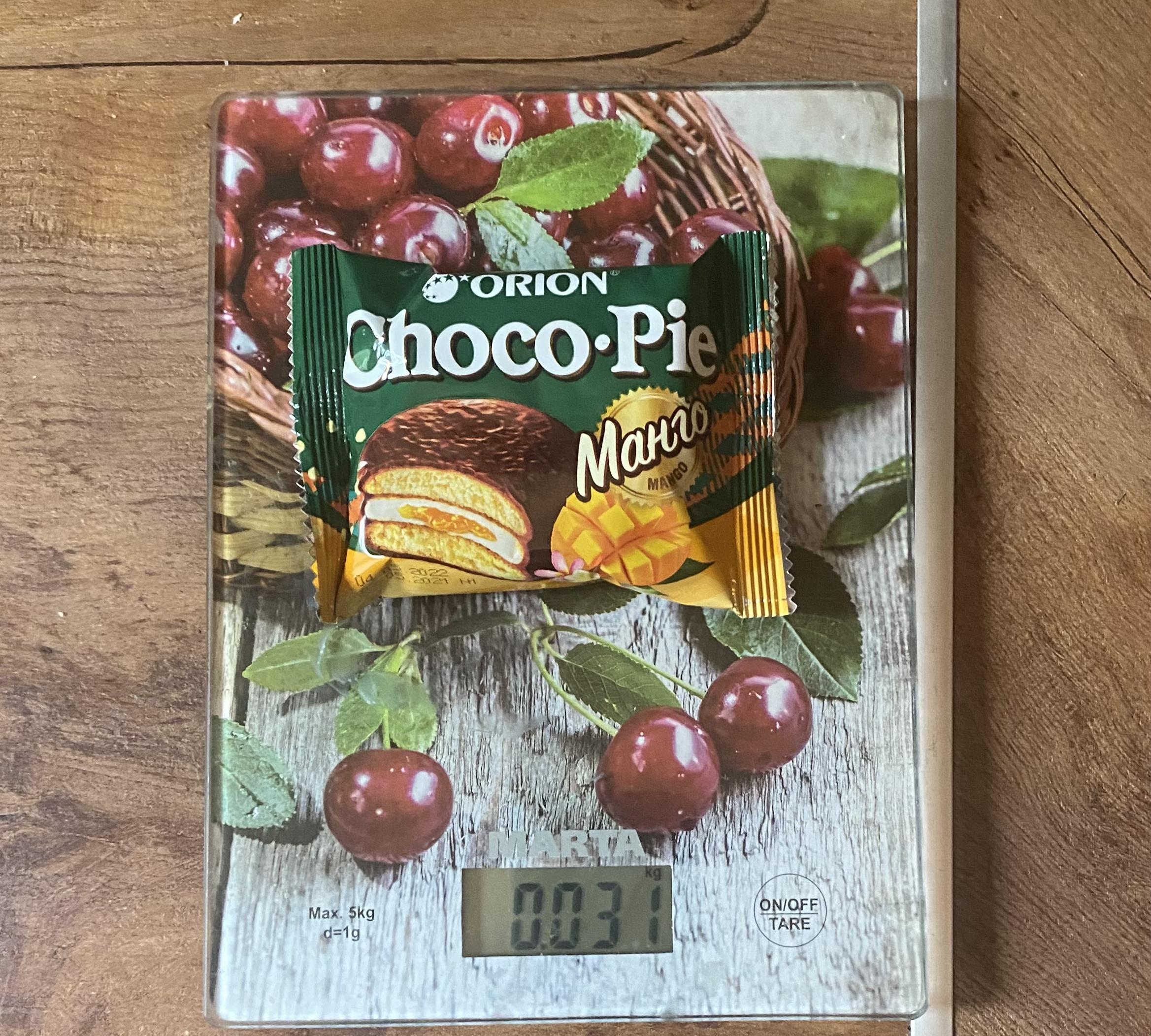 вес пирожного Чоко пай с манго 1 шт