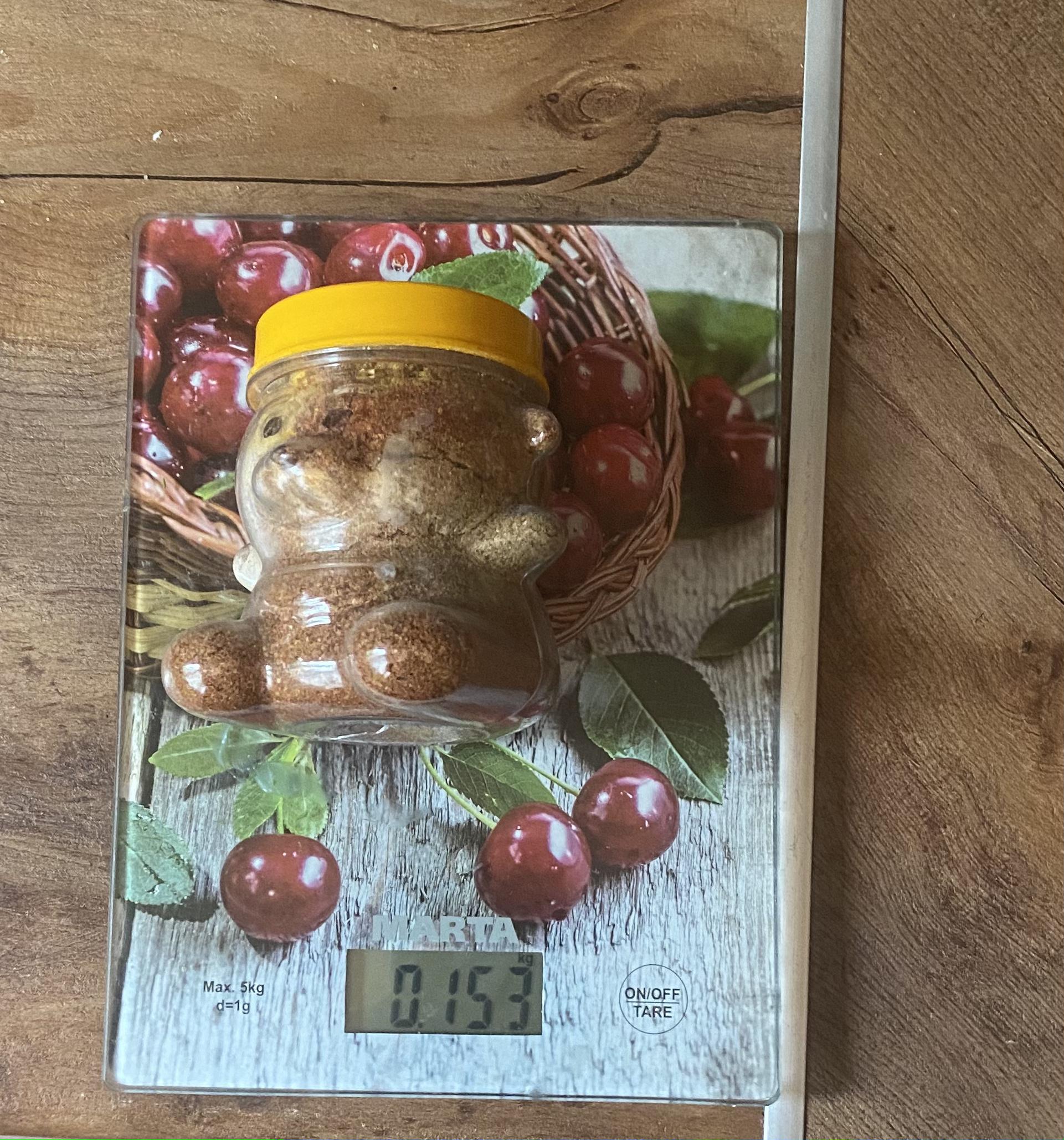 вес приправы для мяса в сувенирной пластиковой упаковке