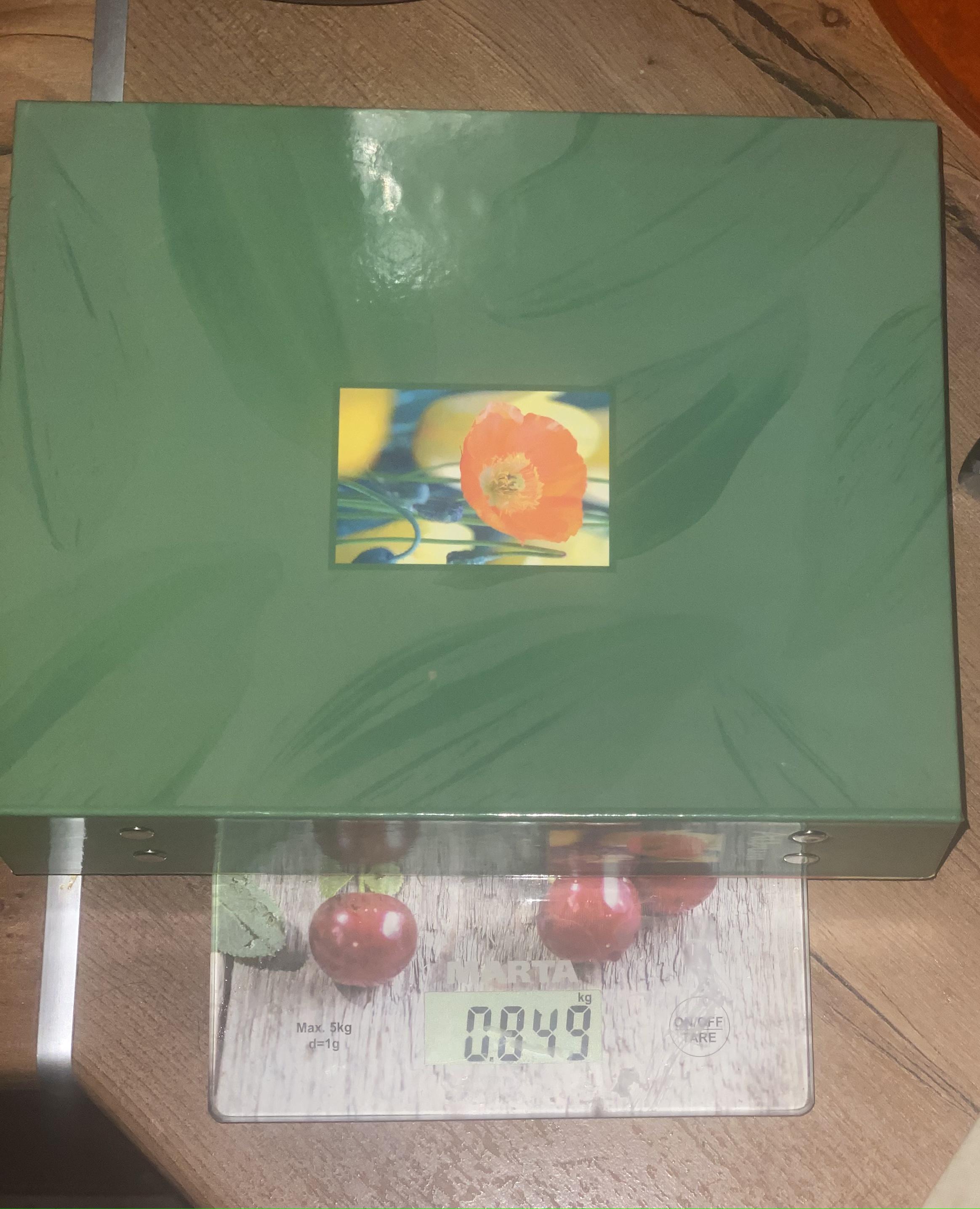 вес альбома на 200 фотографий в картонной обложке заполненного