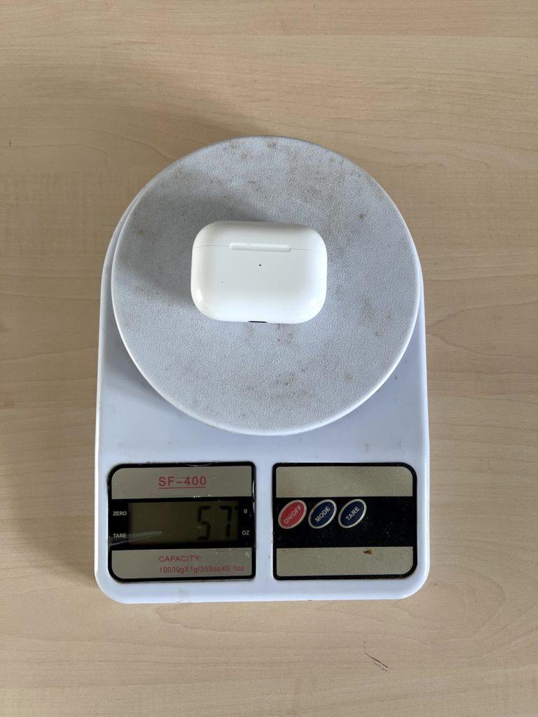 вес airpods pro с кейсом