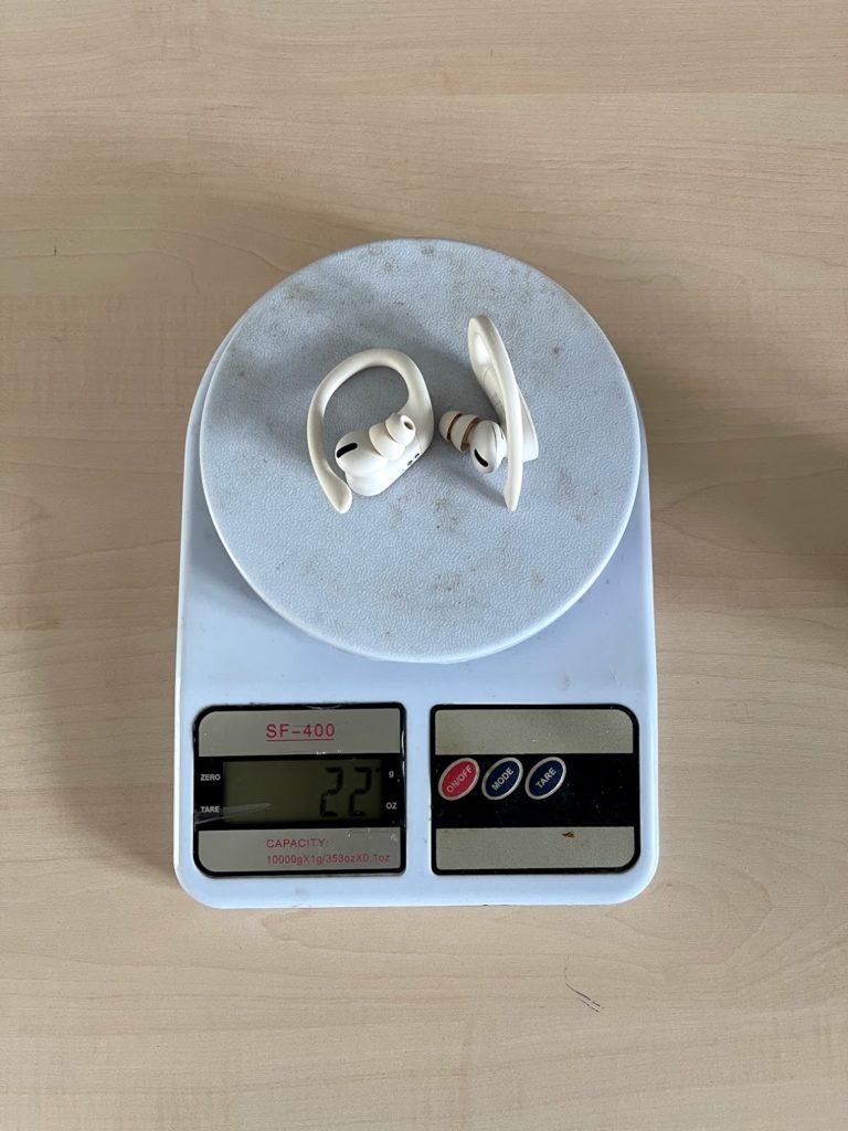 вес Power Beats Pro без кейса